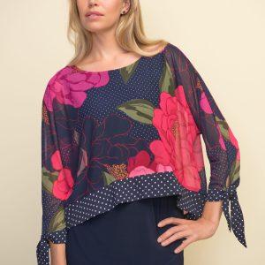 Joseph Ribkoff Pink Floral Top #211278