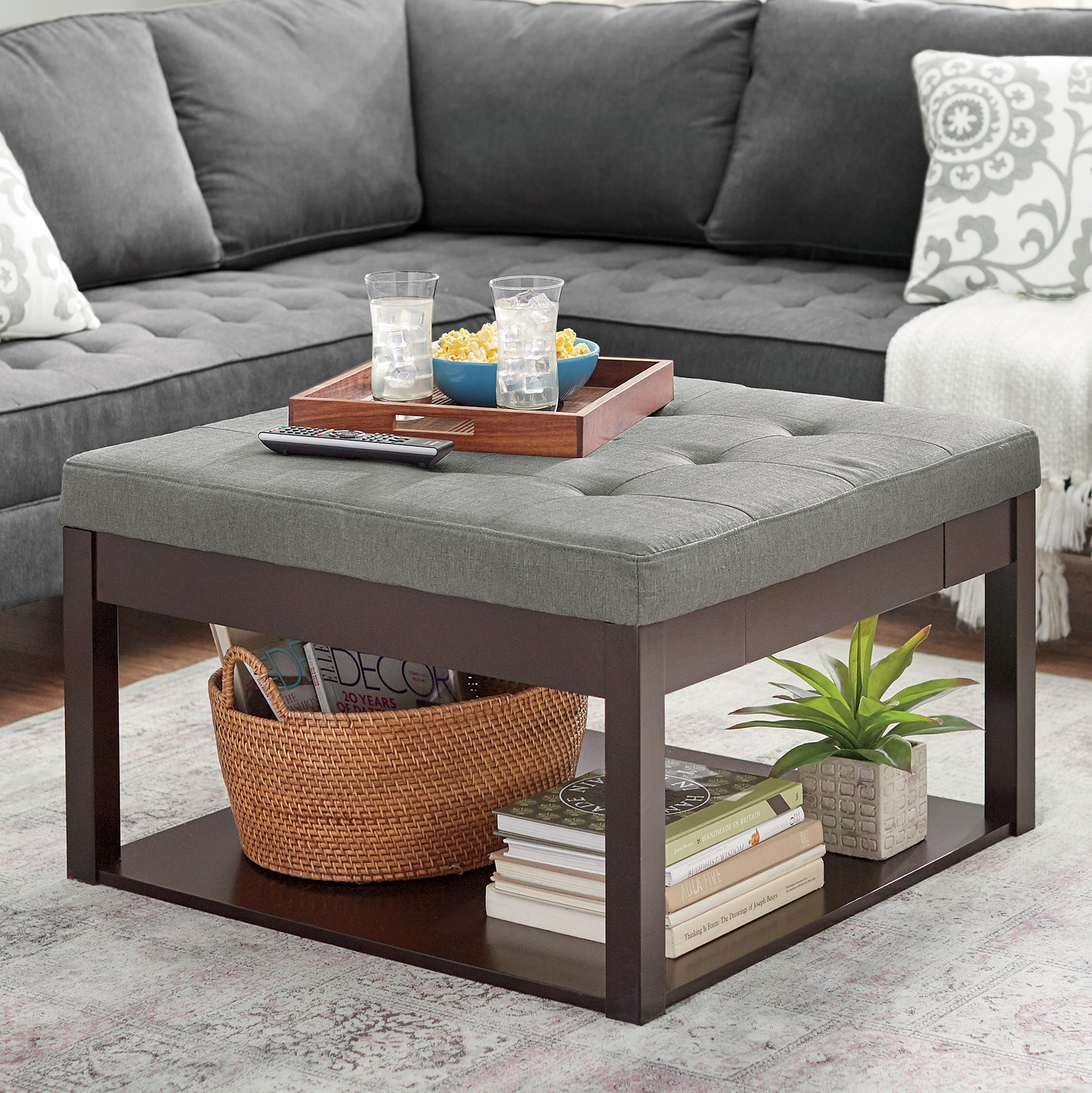 square ottoman coffee table