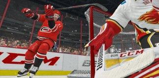 Carolina Hurricanes' forward Andrei Svechnikov scores with the Michigan move in NHL 21