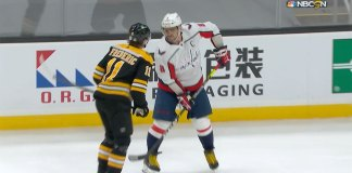Alex Ovechkin spears Trent Frederic
