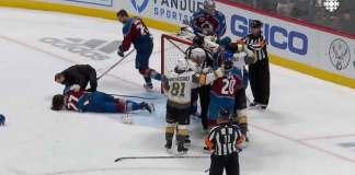 Ryan Reaves injures Ryan Graves