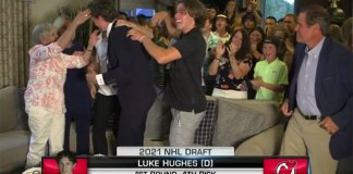 Jack Hughes reaction Luke drafted