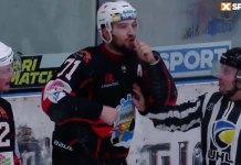 Andrei Deniskin makes racist gesture to Jalen Smereck of HC Donbass