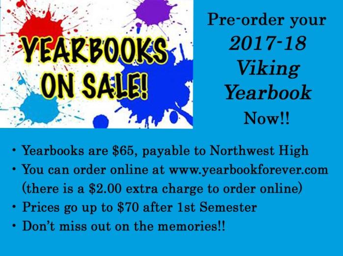 2017-18 NWHS Yearbook Order