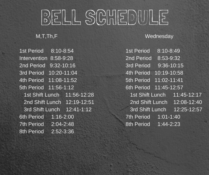 High School Bell Schedule