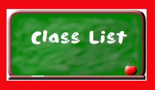 Cedar Hollow 2019-20 Class Lists
