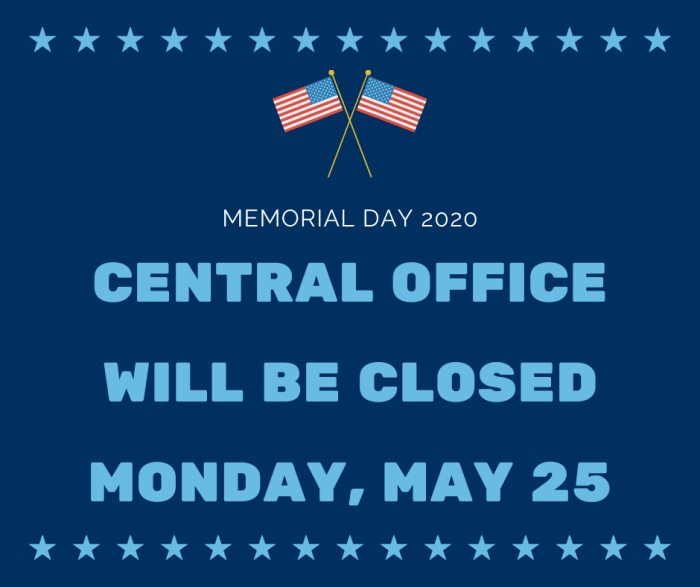 Central Office Closed