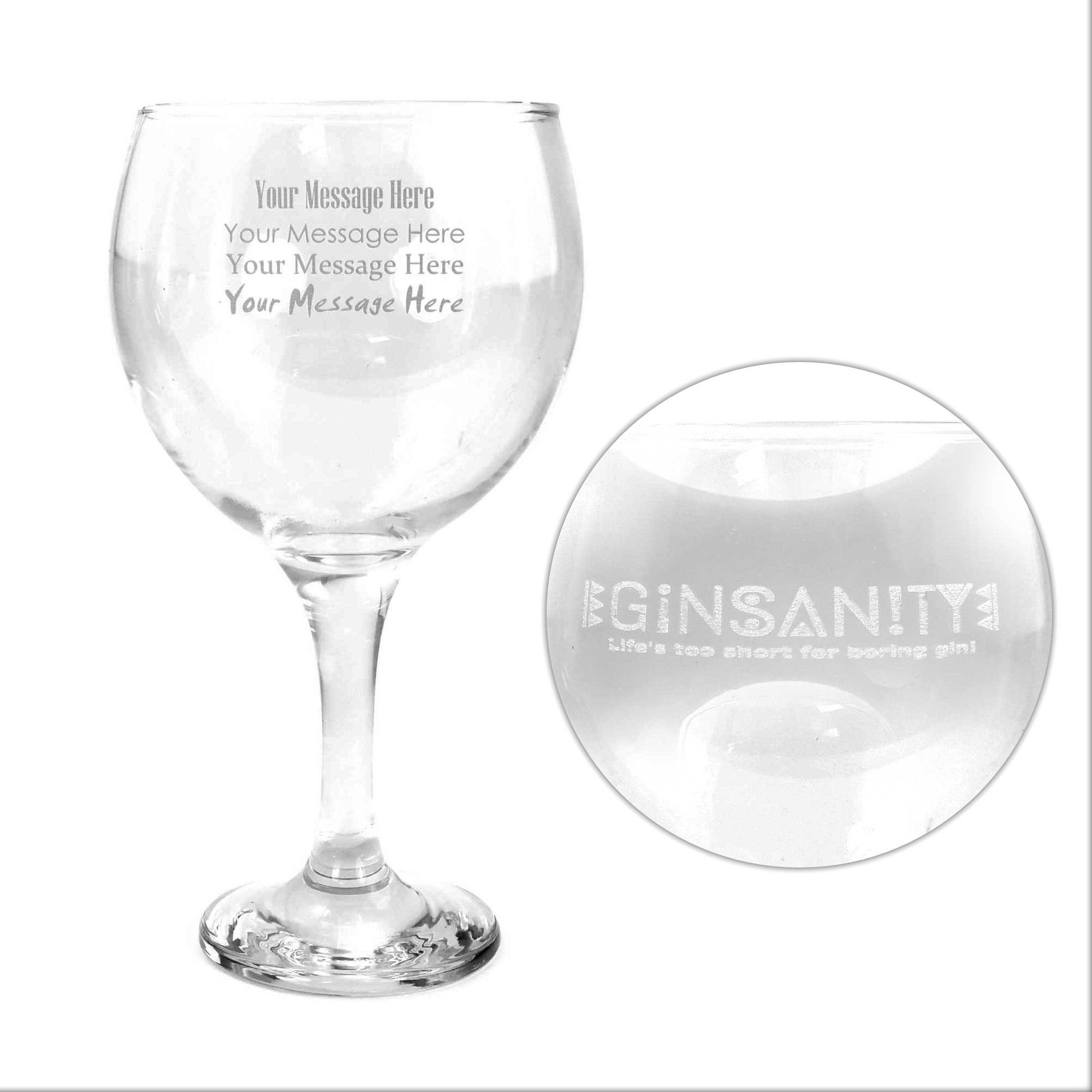 The Ginsanity Copa Gin Glass Optional Engraving Ginsanity