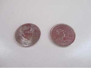 新しい1ペソ硬貨