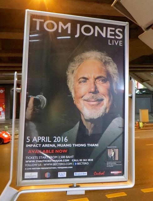タイ・バンコクでトム・ジョーンズのコンサート
