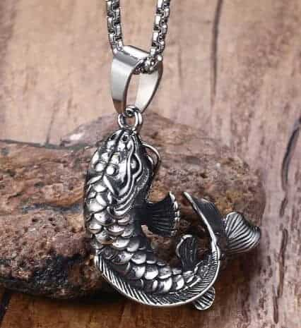 koi fish necklace attention to details 3D koi fish pendant