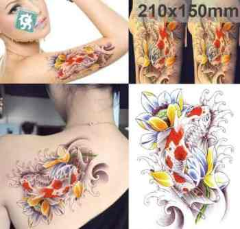 koi fish meaning tattoo temporary sticker