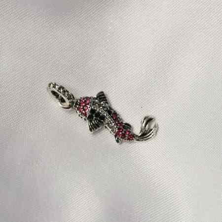 koi fish pendant 925 Sterling Silver Zirconia Asian Carp Koi Fish Glam Pendants Fit Chains Necklaces
