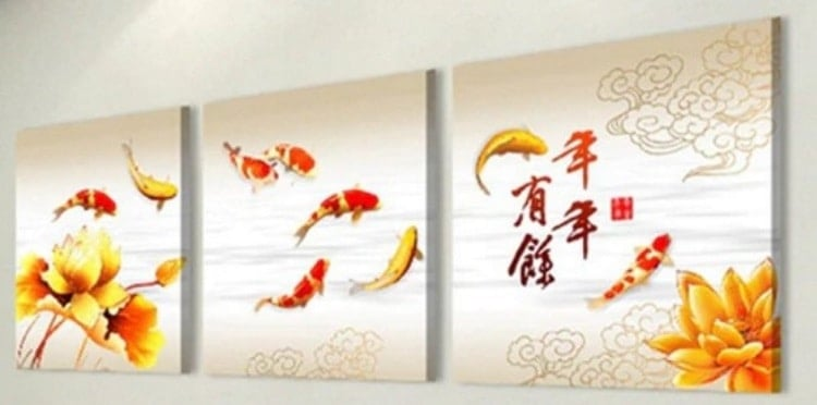 What necessary asian koi paintings for