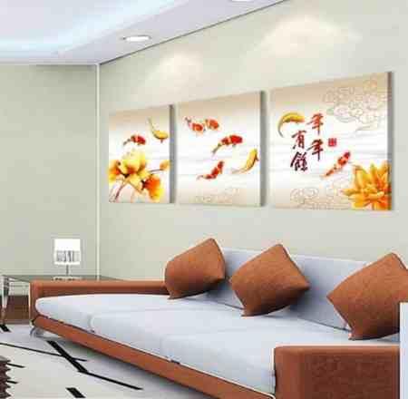 9 koi fish painting