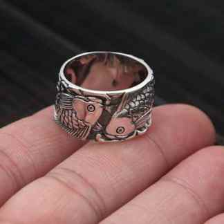 sterling silver rings koi fish ring
