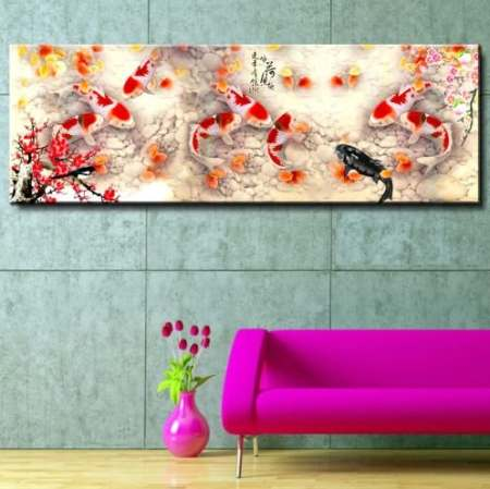 chinese calligraphy painting koi fish feng shui 1