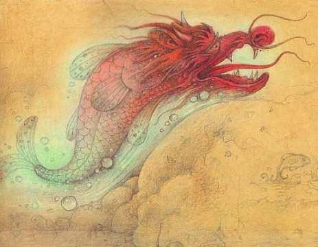 koi fish turning into dragon