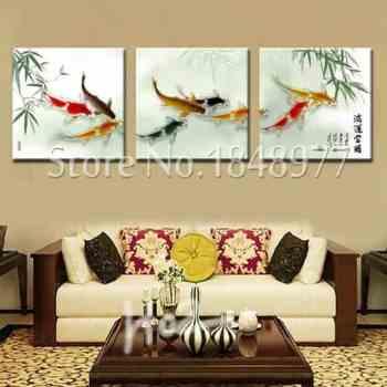 koi fish paintings feng shui