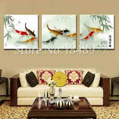 koi fish paintings feng shui