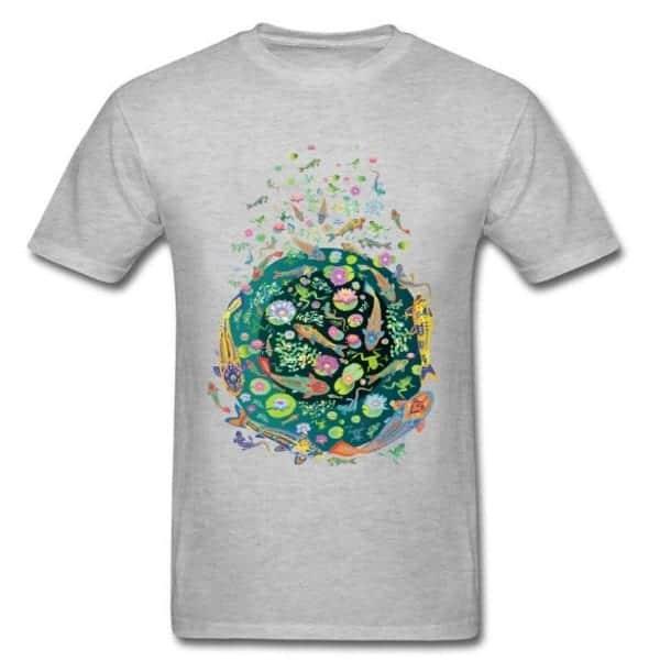 Koi fish shirt doodle art design gray color for sale
