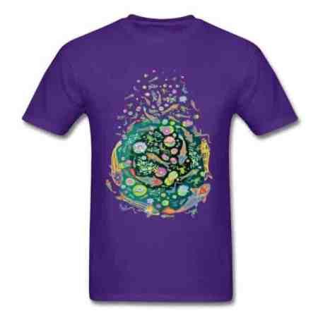 Koi fish shirt doodle art design purple color
