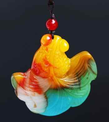 golden fish pendant