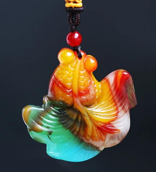 golden fish pendant for sale