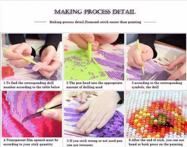 diy 5d diamon painting kits making process detail