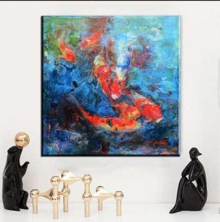 koi fish impasto painting 1