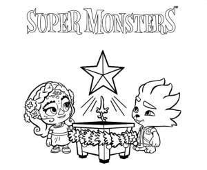super monsters netflix disegni da colorare lobo e zoe