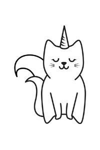 Unicorni da colorare gattocorno da stampare