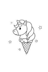 Unicorni da colorare gelato unicorno