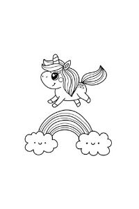 Unicorni da stampare e colorare unicorni arcobaleno