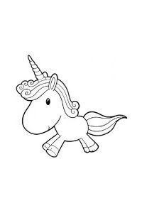 Unicorni da stampare e colorare unicorno pucciosetto