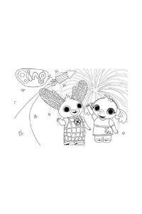 disegni di bing da colorare bing e sula fuochi d'artificio
