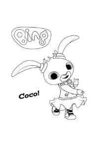 disegni di bing da colorare coco