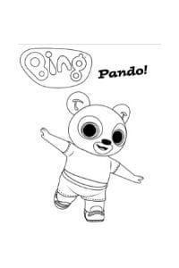 disegni di bing da colorare pando