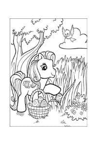 disegni da colorare di pasqua my little pony