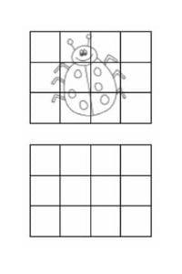 disegni da copiare coccinella