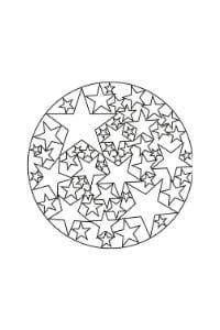 mandala per bambini da colorare con le stelle