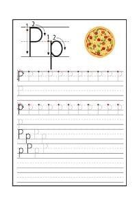 Scheda Pregrafismo lettera P