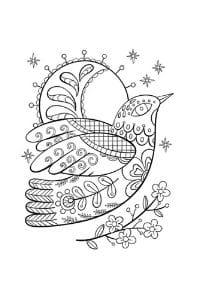 disegni da colorare in formato A4 colomba