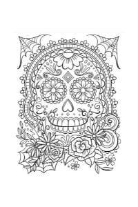 disegni da colorare in formato A4 teschio