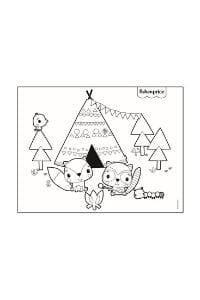 disegni da colorare per bambini 4 anni campeggio