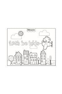 disegni da colorare per bambini 4 anni città