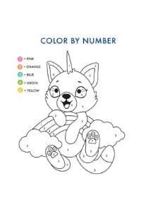 disegni da colorare per bambini 4 anni con i numeri