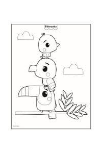 disegni da colorare per bambini 4 anni uccelli