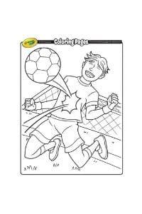 disegni da colorare per bambini di 6 anni Calciatore