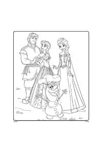 disegni da colorare per bambini di 6 anni Frozen
